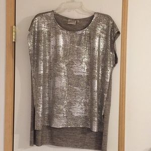 Tops - Shimmery Gold/Silver Metallic Blouse